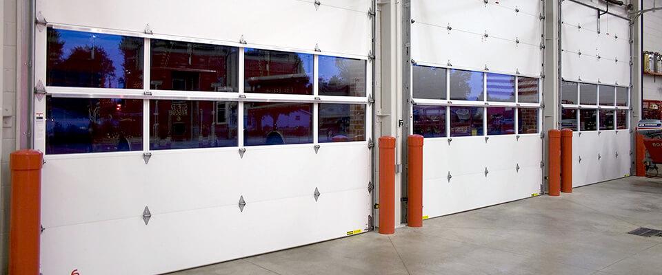 interior of commercial garage doors